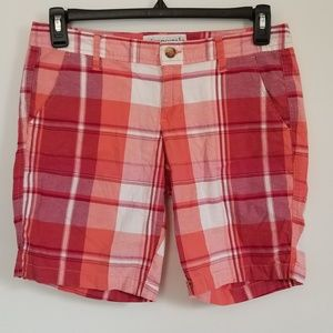 Aeropostale Women's Plaid Bermuda Shorts